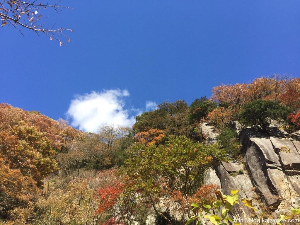 湯河原幕岩 正面壁